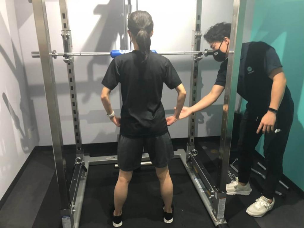 パームスのトレーニング風景